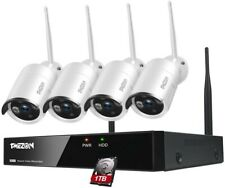 1080p Surveillance Camera System with 4 Cameras and 1 TB Recorder