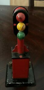 MARX TRAIN POST WAR VINTAGE 3 SIGNAL LIGHT RED YELLOW GREEN