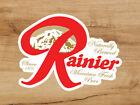Rainier Beer Logo Premium Vinyl Sticker Decal 3x2.5 Breweriana