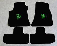 Autoteppich Fußmatten für Dodge Challenger Hellcat ab2008 Velours Nubuk neongrün
