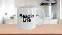 Beagle Mug White Coffee Cup Gift for Dog Mom Dad Lover Rescue Pet Owner Life