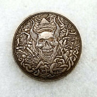 US rare Morgan Silver Foreign Currency Coins Commemorative Collection Skull cool