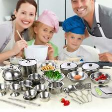 Play House Children Toys Shatterproof Stainless Steel Boys Girls Toy Kitche