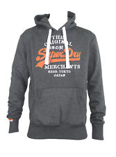 Superdry Merchants Stencil Mens Slim Fit Pull Over Top Sweater Hooded Hoodies