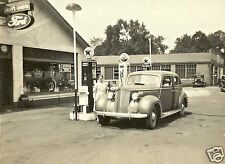 FORD PARTS TEXACO SERVICE GAS STATION SKY/FIRE CHIEF PUMPS  5x7  PHOTO 2 gals