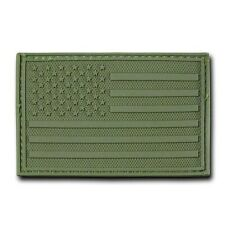 """Green United States American Flag Usa Tactical Rubber Patch Decal 3"""" X 2"""""""