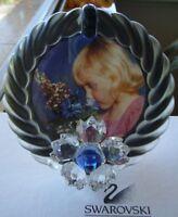 "SWAROVSKI SILVER CRYSTAL  ""PICTURE FRAME BLUE FLOWER"" MINT IN BOX 207892"