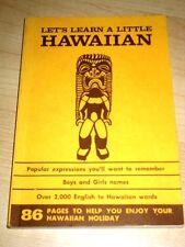 1990 LET'S LEARN A LITTLE HAWAIIAN VINTAGE BOOKLET ENGLISH TO HAWAIIAN