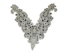Lot of 10 White Floral Venise Venice V-neck Applique Neckline Collar USA Shipper