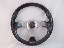YAMAHA GOLF CART & POLARIS RHINO steering wheel W/ Adapter 3 spoke Carbon Fiber