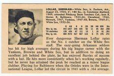 1956 Sherm Lollar Vintage ULTRA RARE card - MLB Chicago White Sox