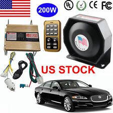 200W Police Fire Siren Horn Loud Speaker Car Safety Warning Alarm Pa System Kit
