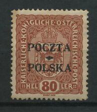 Polen 1919 Fischer Nr 43 * MH krakauer Ausgabe geprüft Wiatrowski PZF.