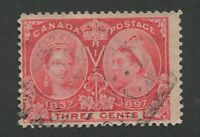 "CANADA #53 USED JUBILEE SQUARED CIRCLE CANCEL ""WINDSOR"""