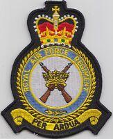 RAF Royal Air Force Regiment Crest Badge Patch - MOD Approved