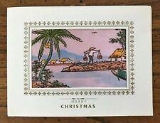 New listing South Vietnamese Silk Painted Christmas Card - Vietnam War, Saigon 1969
