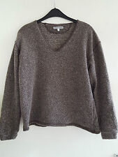 Emporio Armani Para Hombre/Mujer Jersey de lana marrón pequeña -! Perfecto Estado!