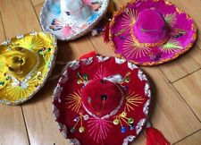 Set Of 11 Mexican Mini Charro Hats, Party Favors, Decorations, Mariachi Sombrero