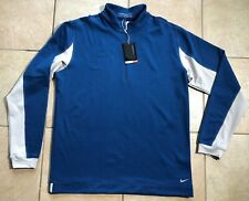 Nike Golf Thermal Half-Zip Nike Sphere Pro Pullover Coverup-Blue-Large-Nwt