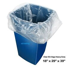 More details for clear bin bags bin liners refuse sacks heavy duty rubbish waste bags 160g