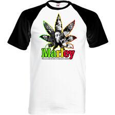 Bob Marley Humo la Hierba Hombre Divertido Reggae Camiseta Porro Cannabis Top