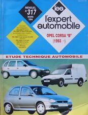 Revue technique OPEL CORSA B depuis 1993 essence diesel RTA EXPERT 317 1994