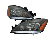 Depo Mitsubishi Lancer 04 05 06 07 Projector Black Head Ligh Lamp Pair Set