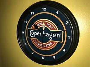 Copenhagen Snuff Chewing Tobacco Chaw Shop Store Bar Man Cave Clock Sign