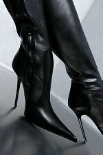 HAND MADE IN ITALY DAMEN POINTY STRETCH BOOTS HIGH HEELS G69 LEDER STIEFEL 35