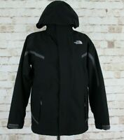 THE NORTH FACE HyVent Black Fleece Lined Jacket size L (14/16) Boys