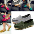 New Slip on Women Round Toe Shoes Loafers Driving Peas Walking Flat Casual Shoes