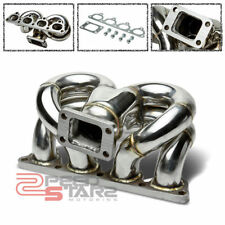 FOR CIVIC/CRX/DEL SOL D15/D16 T3 T3T4 TURBO FLANGE STAINLESS RAM HORN MANIFOLD