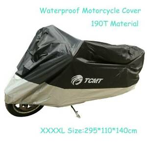 XXXXL Waterproof Motorcycle Motorbike Scooter UV Dust Protector Rain Cover 190T