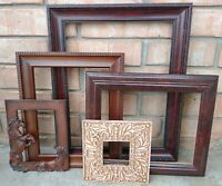 Vintage 5 PICTURE FRAME Lot Recycle Arts shabby chic craft Deco western boho