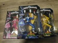 Lot of 3 Blue Pink Yellow Power Ranger Mighty Morphin Legacy Collection Limited
