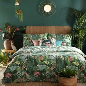 Green Duvet Covers Amazonia Tropical Jungle Quilt Cover Bedding Sets by furn.