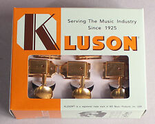 Kluson Deluxe Single Line Tuners Tuning Keys Fits Vintage Fender® Gold