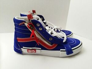 "New Vans SK8 Hi ""SURF THE WEB"" Skate Shoes Blue/Red/White 508357- Men 8"