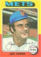 1975 Topps Baseball Set Break Joe Torre New York Mets Card #565