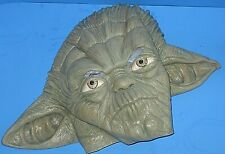 VTG Star Wars 1980 BABY YODA Halloween Rubber Mask Lucas Films Adult S / YOUTH L