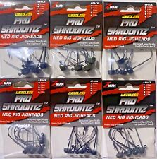 Z-Man Pro ShroomZ Weedless Jig heads Ned Rig Jig Fishing Bass Choose Zman
