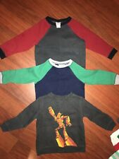 Circo Lot Boys Sweatshirts 3T Robot Green Gray Red Navy 3