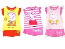 Peppa Pig Girls Shorts T shirt Pyjamas Summer Holiday Clothing 2 3 4 5 6 Years!