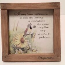 "Marjolein Bastin Print In Frame Floral Religious 4.5"" x 4.5"" ""In every flower."""