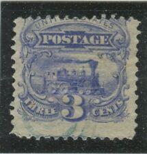 U.S. Stamps Scott #114 Green Target cancel,Used,VG-Fine (X1851N)