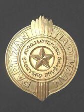 YUGOSLAVIA - THE YUGOSLAV SPORTS ASSOCIATION PARTIZAN BELGRADE PLAQUE - GOLD