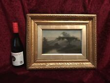 Antique Original Landscape Oil Painting, Early 19th Century