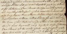1756 NEW YORK CITY WILL SLAVES SLAVERY Manhattan Manuscript ABRAHAM VAN HORN
