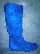 BUMPER BLUE SUPER SUEDE BOOTS - SIZE  7
