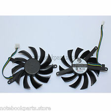 75 mm  EVGA Nvidia GTX 460 560 Video Card DC VGA Fan 12V 0.35A PLD08010S12HH